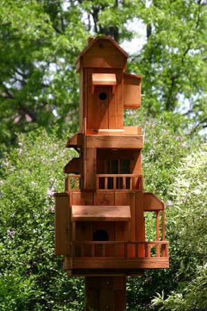 Handcrafted Townhouse Birdhouse