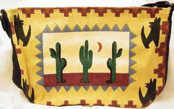 Hand Woven 'Cactus' Southwestern Style Tote Bag