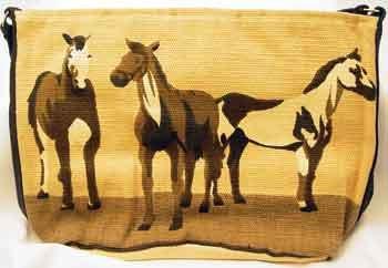 'Horse' Designed Handcrafted Tote Bag