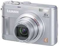 Panasonic Lumix 5.0 Megapixel Digital Camera, 6x Optical Zoom, 4x Digital Zoom, 2.0 Inch LCD Display