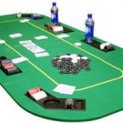 Texas Hold em Folding Table Top with Chip Trays