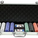500PC 13.5GRAM PRO CLAY DOUBlE SUITED POKER CHIP SET + ALUMINUM CASE