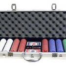 500PC 11.5 GRAM SUITED POKER CHIP SET + ALUMINUM CASE