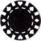 50PCS 13.5GRAM DOUBLE SUIT CLAY POKER CHIP - BLACK