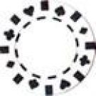 50PCS 13.5GRAM DOUBLE SUIT CLAY POKER CHIPS - WHITE