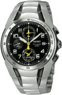 Seiko watch SNA473 Stainless Steel Alarm Chronograph Men's Watches