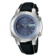 Blue Casual Dress Tough Solar Watch with Analog Dial Code and Leather band