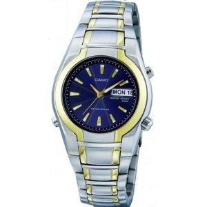 Casio Watch MTP1226G-1AV Two Tone Tough Solar Men's Watch