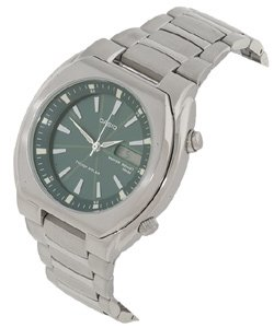 Casio MTP1225A-8AV Green Casual Dress Tough Solar Watch with a Stainless Steel Band