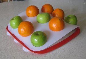 Fruit Platter - White Top, Red Base