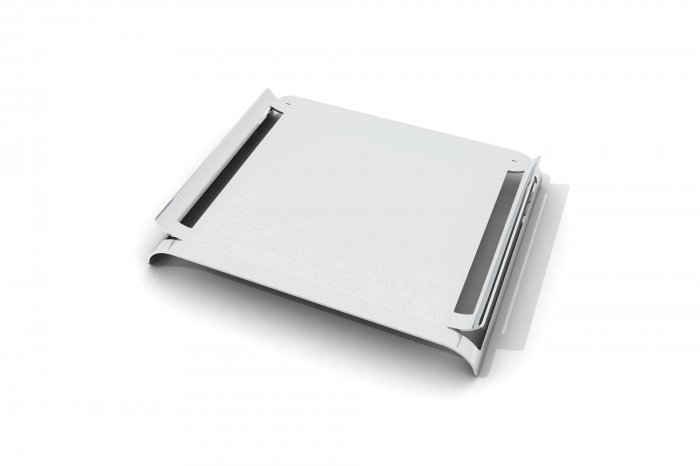 Etched Beakfast Tray - Silver - Winter Trees