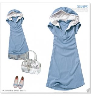 Stunning Energetic Summer Blue T - Shirt Top