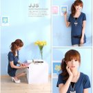 Stunning Japan Style Summer Fashion Blue Top