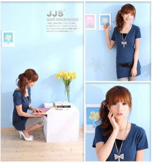 Stunning Japan Style Summer Fashion Blue Top