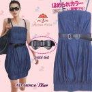 Stunning Japan Style Summer Fashion Blue Dress