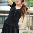 Stylish Korean Spring And Summer Casual Dress Black
