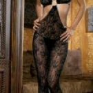 Boudoir Rose Lace Bodystocking with O-Ring New Sexy