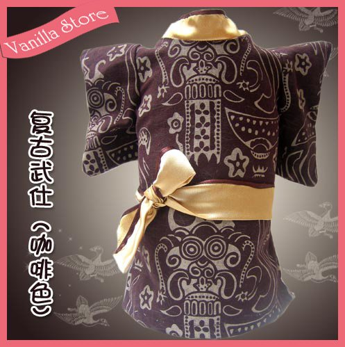 Cool Japan Bushido Style Brown Dog Clothes Apparel