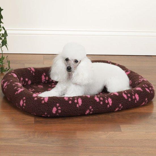 Slumber Pet Paw Print Crate Bed MEDIUM SIZE