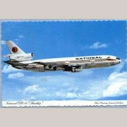 """National Airlines DC-10 """"Starship"""" Postcard"""