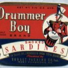 Drummer Boy Smoked Sardines Can Advertising Label