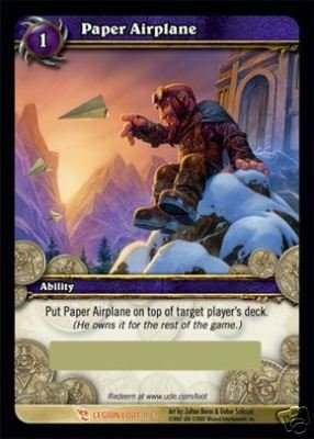 WoW World of Warcraft TCG -- Paper Airplane  LOOT