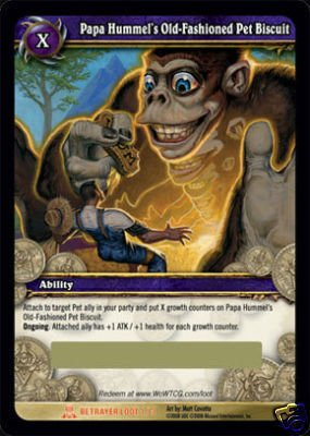 WoW World of Warcraft TCG -- Papa Hummel's Old-Fashioned Pet Biscuit  LOOT