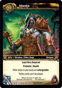 WoW World of Warcraft TCG -- Akama