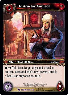 WoW World of Warcraft TCG -- Instructor Antheol