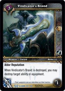 WoW World of Warcraft TCG -- Vindicator's Brand