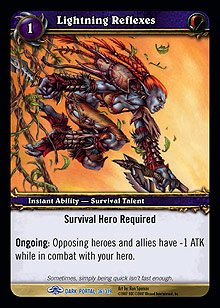 WoW World of Warcraft TCG -- Lightning Reflexes