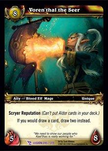 WoW World of Warcraft TCG -- Voren'thal the Seer
