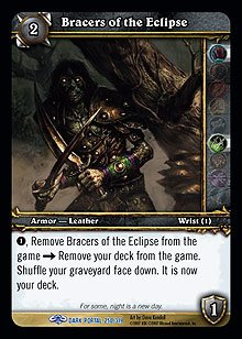 WoW World of Warcraft TCG -- Bracers of the Eclipse