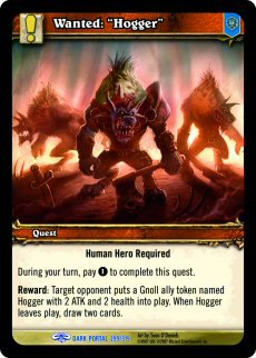 """WoW World of Warcraft TCG -- Wanted:""""Hogger"""""""