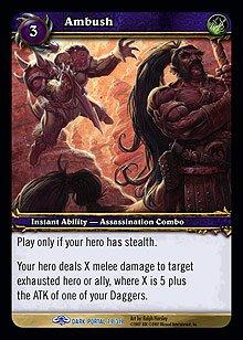 WoW World of Warcraft TCG -- Ambush