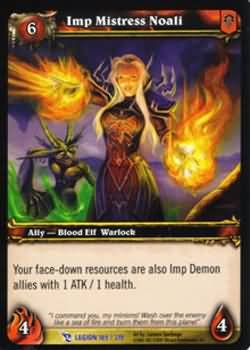 WoW World of Warcraft TCG -- Imp Mistress Noali
