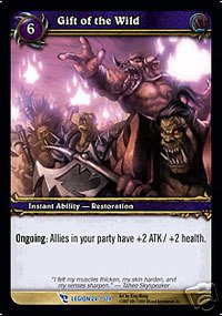 WoW World of Warcraft TCG -- Gift of the Wild