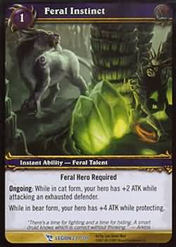 WoW World of Warcraft TCG -- Feral Instinct