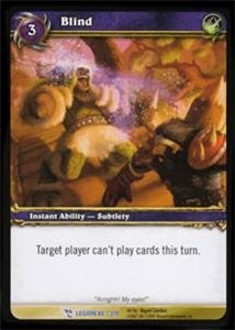 WoW World of Warcraft TCG -- Blind