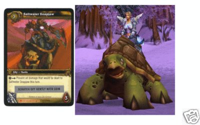 WoW World of Warcraft TCG ---- Saltwater Snapjaw --  LOOT