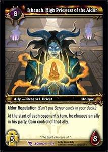 WoW World of Warcraft TCG -- Ishanah, High Priestess of the Aldor