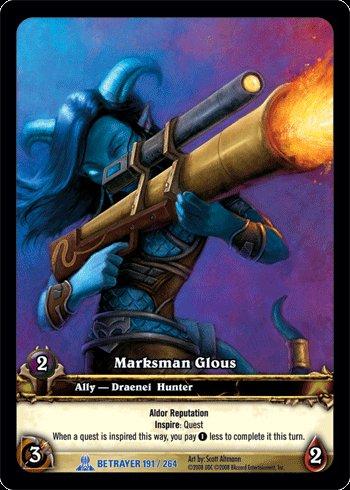WoW World of Warcraft TCG ---- Marksman Glous - Extended Art