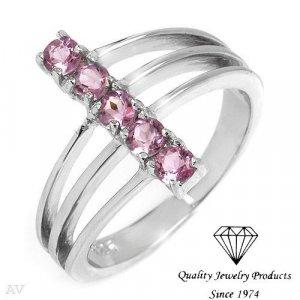 BEAUTIFUL genuine Amethyst ring .55ctw- 925 ster silv. RETAIL-$89