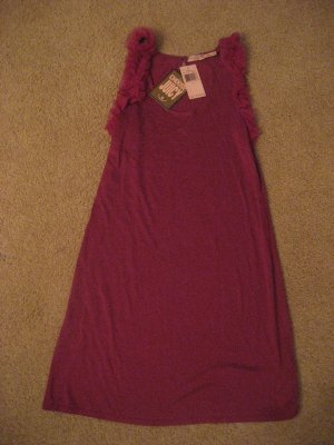 Juicy Couture Magenta Ruffle Sleeve dress NWT size S