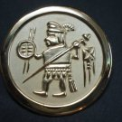 Circular pendant ornaments sun and  moon  temple warrior
