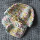 New Handmade Baby Hat - Pastel Dreams (Item # IH0003) 100% Cotton, Matches IS0003 & IB0005