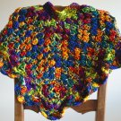 New Handmade Girls Scalloped Poncho sz 4-7 (item# PC0004), Mexicana, 100% Acrylic, Machine wash