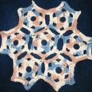 Hand Crocheted Trivet, approximately 10 inch diameter, 100% cotton