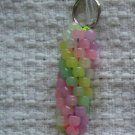Hand Crocheted Pony Bead Keychain (item # JK0009) - Glow-in-the-Dark Pastels