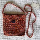 Hand Crocheted Envelop Bag (iiem # BP0001) - Cotton Blend - Color:Mexicana